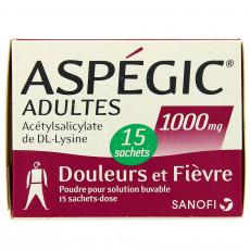Aspegic 1000mg x15 sachets