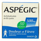 Aspegic 500mg x30 sachets