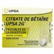 Citrate de betaine Upsa 2g sans sucre citron
