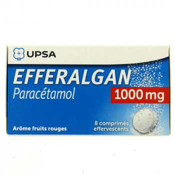 Efferalgan 1000mg x8 cpr eff arôme fruits rouges