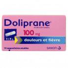 Doliprane 100mg x10 Suppositoires