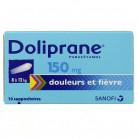 Doliprane 150mg x10 Suppositoires
