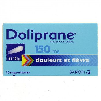 Doliprane 150mg x10 Suppositoires