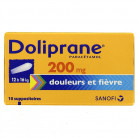 Doliprane 200mg x10 Suppositoires