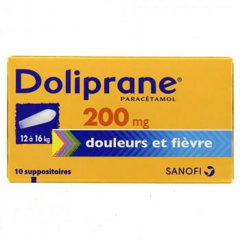 Doliprane 200mg x10 Suppositoires
