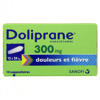 Doliprane 300mg x10 Suppositoires
