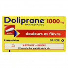 Doliprane 1g x8 Suppositoires
