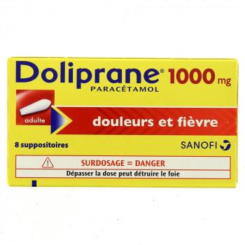 Doliprane 1g x8 Suppositoires