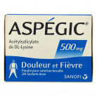 Aspegic 500mg x20 sachets