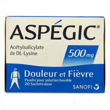 Aspegic 500mg x20 sachets