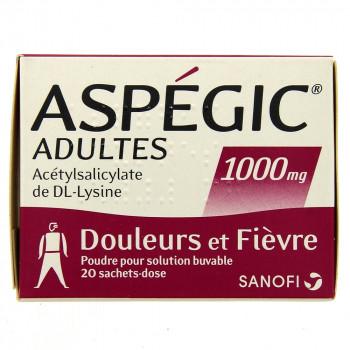 Aspegic 1000mg x20 sachets