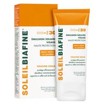 SoleilBiafine Emulsion visage Toucher doux spf30 50ml