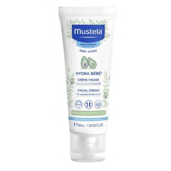 Hydra bébé crème visage à l'avocat bio 40ml Mustela