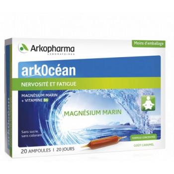 ArkOcéan Magnésium Marin - 20 ampoules - Goût caramel