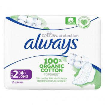Always serviettes - Cotton Protection - Long Plus x10