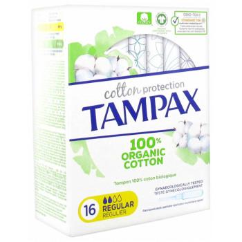 Tampax Cotton Protection Régulier x16