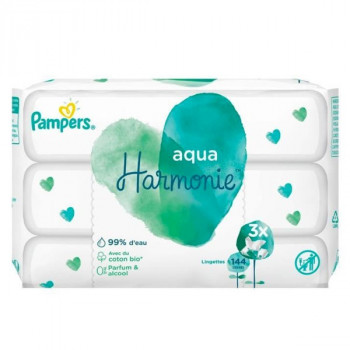 Pampers Harmonie - Aqua Lingettes 3x48