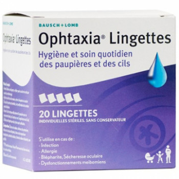 Ophtaxia x20 lingettes