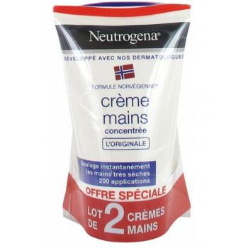 Crème mains DUO hydratante concentrée Neutrogena 2x50ml