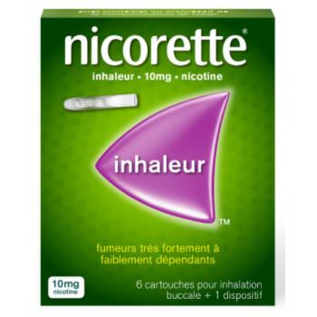 Nicorette inhaleur 10mg x6 cartouches
