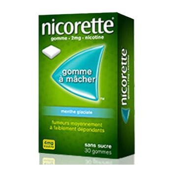 Nicorette 4mg Menthe glaciale x30 Gommes
