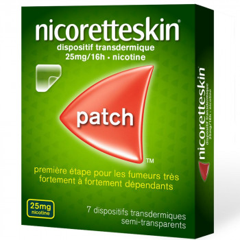 NicoretteSkin 25mg x7 patchs