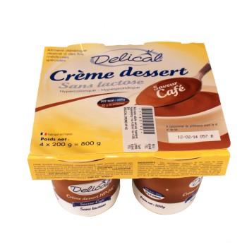 Delical Crème dessert sans lactose  4Pots/200g