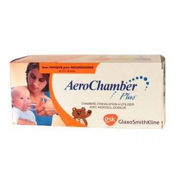 Aerochamber Plus Chambre inhalation avec masque pédiatrique