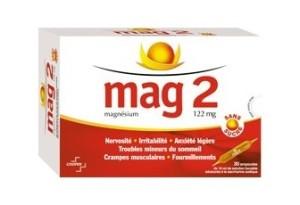 Magnésium Mag 2 en ampoules