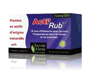 Acti'Rub, un traitement en phytothérapie à base de 12 actifs naturels