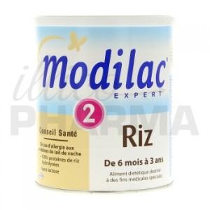 Modilac Expert Riz 2, une formule spéciale pour les bébés allergiques au protéine de lait de vache