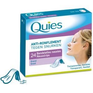Les bandelettes nasales Quiès contre le ronflement