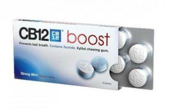 CB12 Boost est une tablette de gommes à mâcher qui prévient la mauvaise haleine