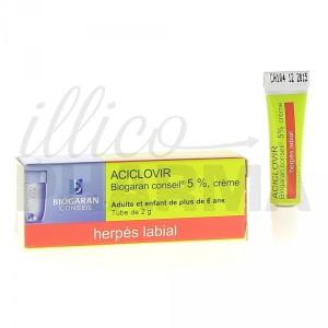 La crème Aciclovir de Biogaran contre les boutons de fièvre