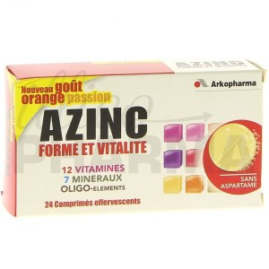 Azinc forme et vitalite orange passion contre la fatigue