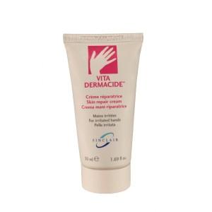 Choisissez Vita dermacide creme reparatrice mains en cas de sécheresse cutanée.