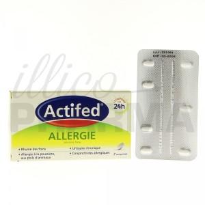 Luttez contre les diverses manifestations allergiques avec Actifed allergie cetirizine 10mg 7cpr