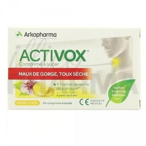 Activox maux de gorge toux sèche comprimés