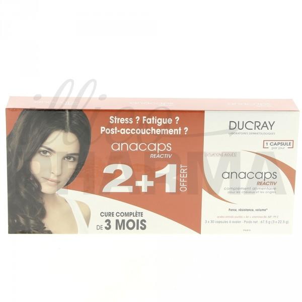 Anacaps Reactiv Ducray, un complément alimentaire efficace pour les cheveux