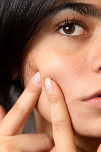 les poussées d'acné