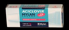 Aciclovir 5% de Mylan, tube de 2 grammes