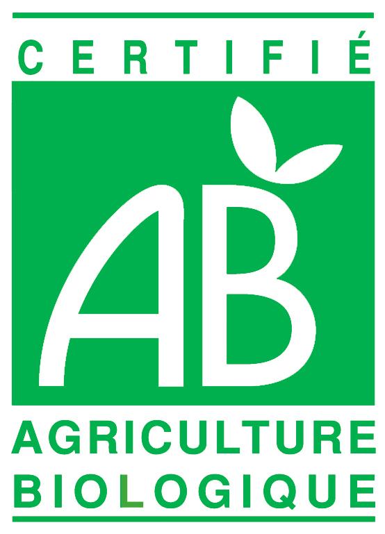 Logo visible pour les légumes, fruits et céréales, pour certifier que le produit est traité sans engrais chimique, pesticides etc.