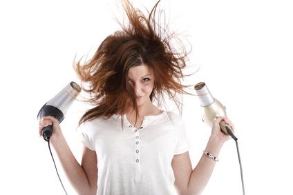 Séchage de cheveux trop fort