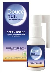 Le spray Douce nuit calmera les ronflements